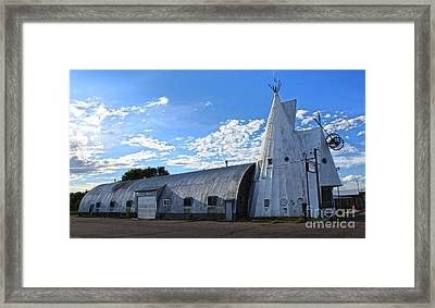 Cheyenne Wyoming Teepee - 01 Framed Print by Gregory Dyer