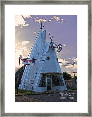 Cheyenne Wyoming Teepee - 03 Framed Print by Gregory Dyer