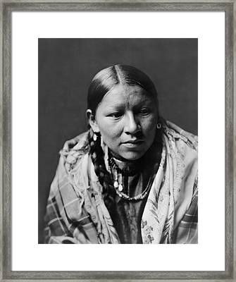 Cheyenne Young Woman Circa 1910 Framed Print