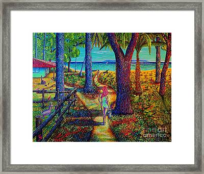 Framed Print featuring the painting Chez Les Amazons by Viktor Lazarev