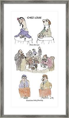 Chez Louis Framed Print by William Steig