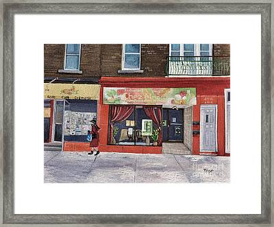 Chez Maggy Verdun Framed Print by Reb Frost