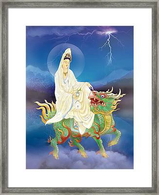 Framed Print featuring the photograph Chi Lin Kuan Yin by Lanjee Chee