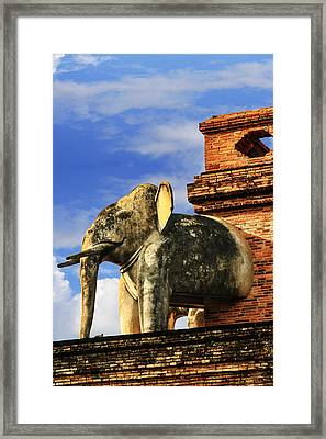 Framed Print featuring the photograph Chiang Mai Elephant by Rob Tullis