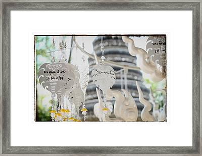 Chiang Rai Temple Framed Print by River Engel