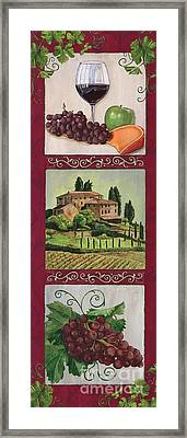 Chianti And Friends Collage 1 Framed Print