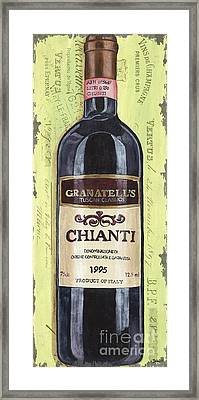 Chianti And Friends Panel 1 Framed Print by Debbie DeWitt