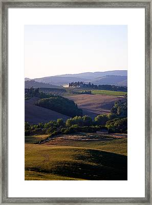 Chianti Hills In Tuscany Framed Print by Mathew Lodge