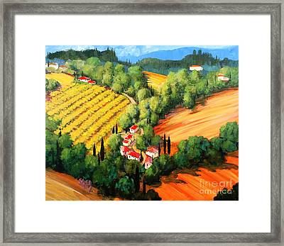 Chianti Road Framed Print