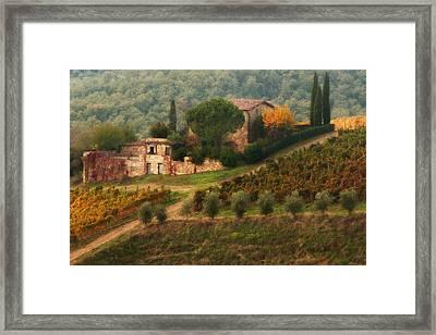 Chianti Villa Framed Print by John Galbo