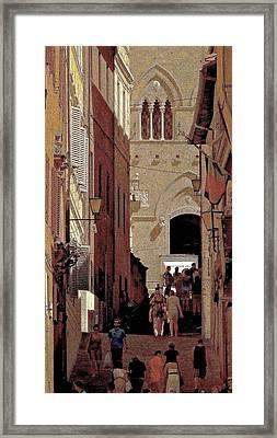 Chiaroscuro Siena  Framed Print by Ira Shander