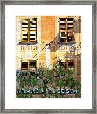 Chiavari Windows Framed Print