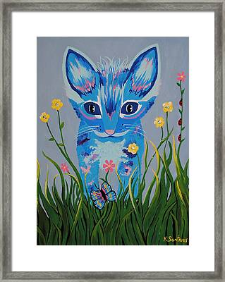 Framed Print featuring the painting Chibi by Kathleen Sartoris