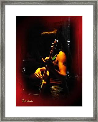 Chic Bassist Framed Print by Sadie Reneau