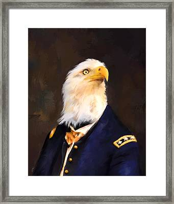 Chic Eagle General Framed Print by Jai Johnson