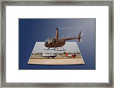 Chicago 08 Helicopter Landing Framed Print by Thomas Woolworth
