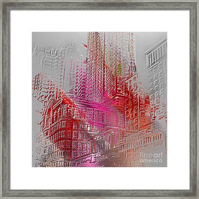 Chicago 2 Framed Print by Soumya Bouchachi