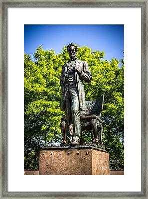 Chicago Abraham Lincoln The Man Standing Statue  Framed Print
