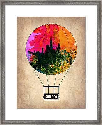 Chicago Air Balloon Framed Print by Naxart Studio