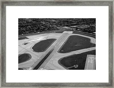 Chicago Airplanes 04 Black And White Framed Print by Thomas Woolworth