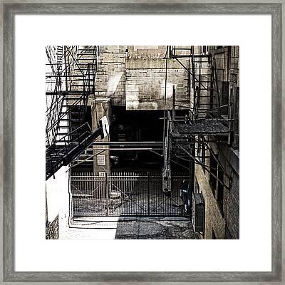 Chicago Alley Framed Print