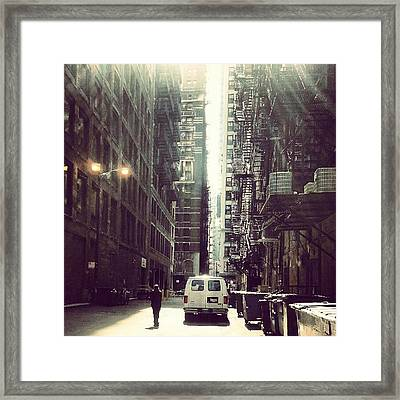 Chicago Alleyway Framed Print