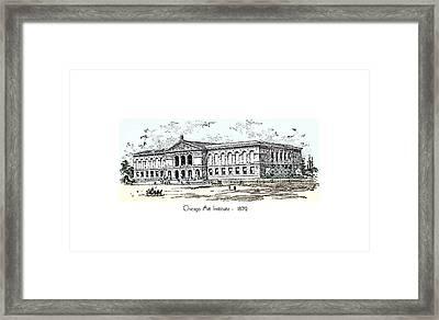Chicago Art Institute -  1879 Framed Print