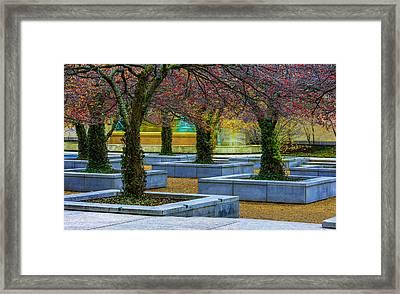 Chicago Art Institute South Garden Framed Print