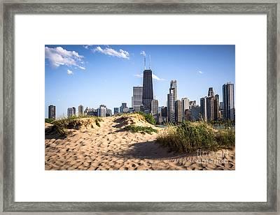 Chicago Beach And Skyline Framed Print by Paul Velgos