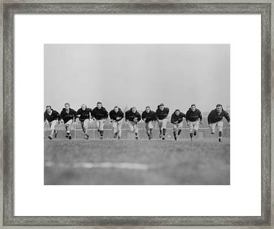 Chicago Bears Backfield Charge Framed Print