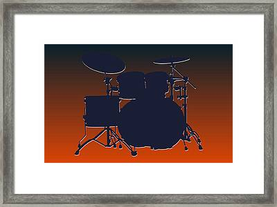 Chicago Bears Drum Set Framed Print by Joe Hamilton