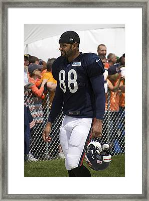 Chicago Bears Te Dante Rosario Training Camp 2014 01 Framed Print by Thomas Woolworth