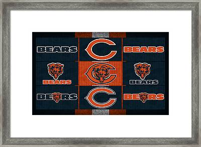 Chicago Bears Uniform Patches Framed Print