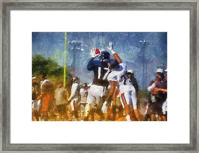 Chicago Bears Wr Alshon Jeffery Training Camp 2014 Photo Art 02 Framed Print by Thomas Woolworth