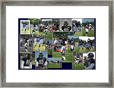 Chicago Bears Wr Armanti Edwards Training Camp 2014 Collage Framed Print by Thomas Woolworth