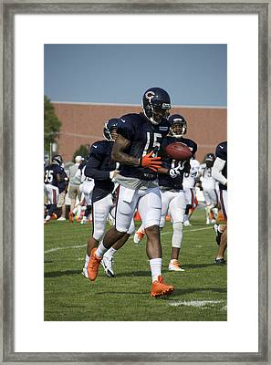 Chicago Bears Wr Brandon Marshall Training Camp 2014 02 Framed Print by Thomas Woolworth