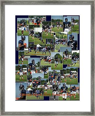 Chicago Bears Wr Brandon Marshall Training Camp 2014 Collage Framed Print by Thomas Woolworth