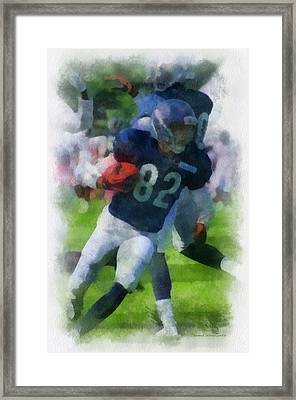 Chicago Bears Wr Chris Williams Training Camp 2014 Pa 01 Framed Print by Thomas Woolworth