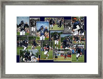 Chicago Bears Wr Eric Weems Training Camp 2014 Collage Framed Print by Thomas Woolworth