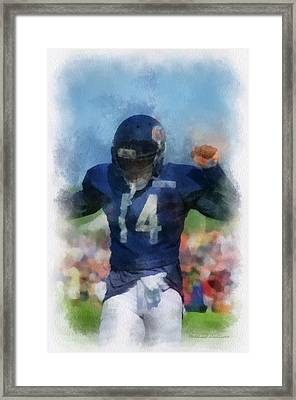 Chicago Bears Wr Eric Weems Training Camp 2014 Pa 01 Framed Print by Thomas Woolworth