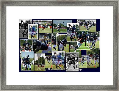 Chicago Bears Wr Josh Bellamy Training Camp 2014 Collage Framed Print by Thomas Woolworth