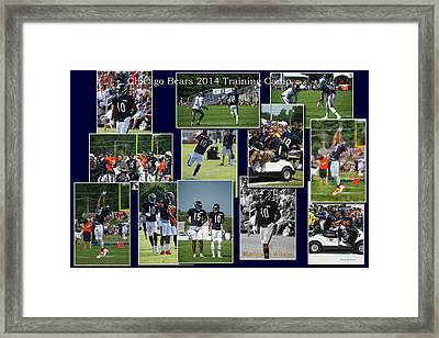 Chicago Bears Wr Marquess Wilson Training Camp 2014 Collage Framed Print by Thomas Woolworth