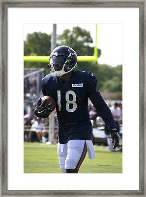Chicago Bears Wr Micheal Spurlock Training Camp 2014 01 Framed Print by Thomas Woolworth