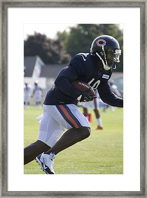 Chicago Bears Wr Micheal Spurlock Training Camp 2014 03 Framed Print by Thomas Woolworth