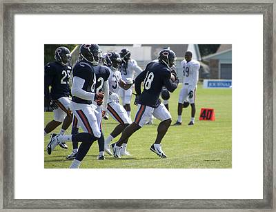 Chicago Bears Wr Micheal Spurlock Training Camp 2014 05 Framed Print by Thomas Woolworth