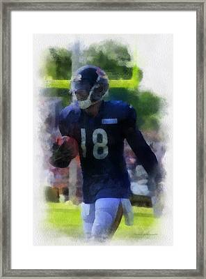 Chicago Bears Wr Micheal Spurlock Training Camp 2014 Pa 01 Framed Print by Thomas Woolworth