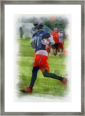 Chicago Bears Wr Terrence Toliver Training Camp 2014 Pa 01 Framed Print by Thomas Woolworth