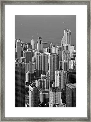 Chicago - Birds-eye-view Framed Print by Christine Till