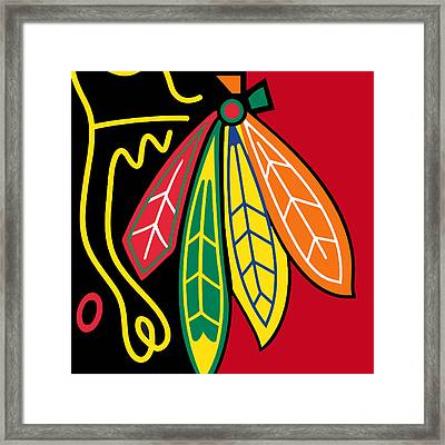 Chicago Blackhawks 2 Framed Print by Tony Rubino
