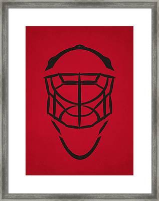 Chicago Blackhawks Goalie Mask Framed Print by Joe Hamilton